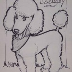 Caricature of large poodle