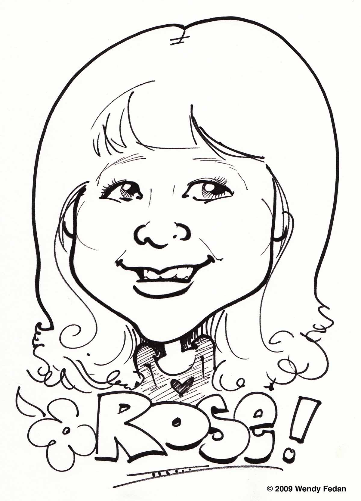 Caricature of Rose
