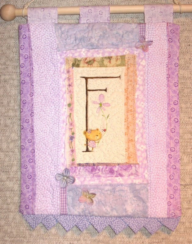 """F"" - Art Quilt by Lynn Gaines"