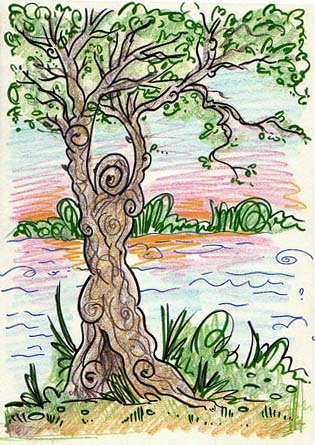 """Tree Figure"" sketch by Wendy Fedan"