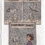 Snoopy Dancing in the Snow ~ ATC